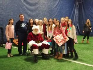 AA Elite 12u with Santa